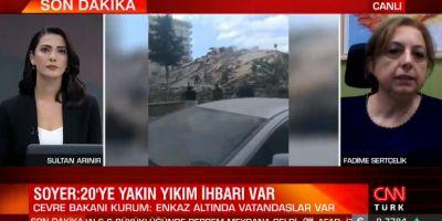 CNN Türk sunucusunun zor anları! İzmir'deki deprem haberini sunmakta zorlandı