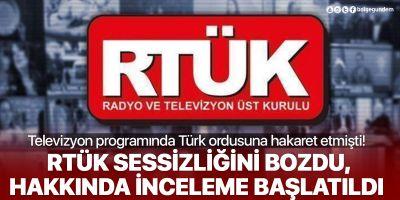 RTÜK'ten Mehmetçiğe hakarete ceza!