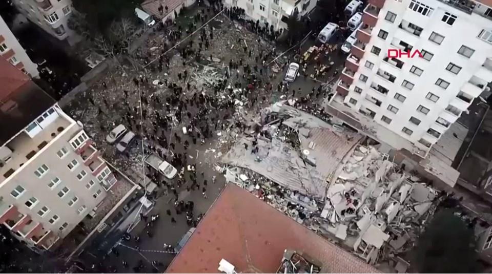 Kartal'da nerede bina çöktü?