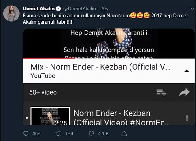 Norm Ender, Demet Akalın'ı fena ti'ye aldı!