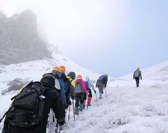 GÜDAT kış temel eğitim kampını Aladağlar'da tamamladı