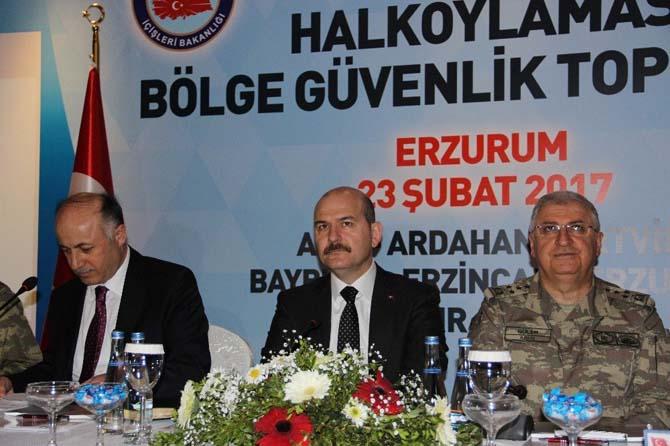 İçişleri Bakanı Süleyman Soylu, Bölge Güvenlik Toplantısına katıldı
