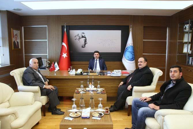 Rektör Karacoşkun'a hayırlı olsun ziyaretleri sürüyor