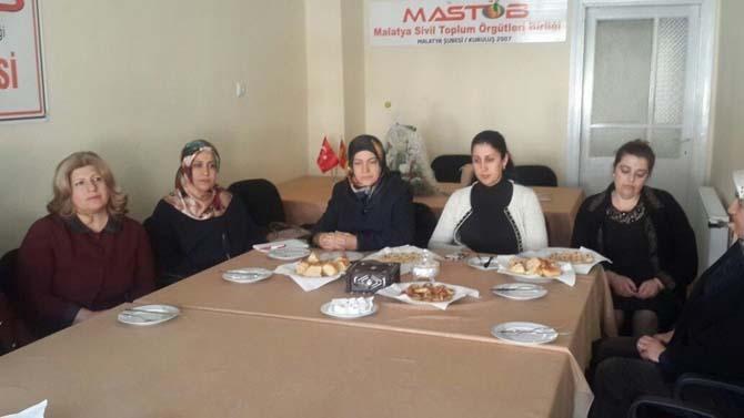 Malatya AK Parti Kadın Kolları MASTÖB'ü ziyaret etti