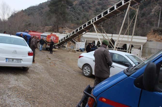 Damper yüksek gerilim hattına temas etti, şoför hayatını kaybetti