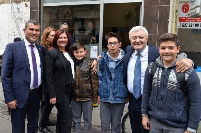 Başkan Çerçioğlu, Çine esnafı ve oda başkanlarını ziyaret etti