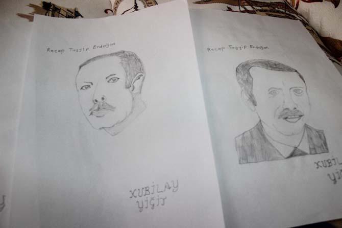 Resmini çizdiği Cumhurbaşkanı Erdoğan ile tanışmak istiyor