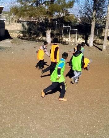 Çocuklar için futbol turnuvası düzenlendi