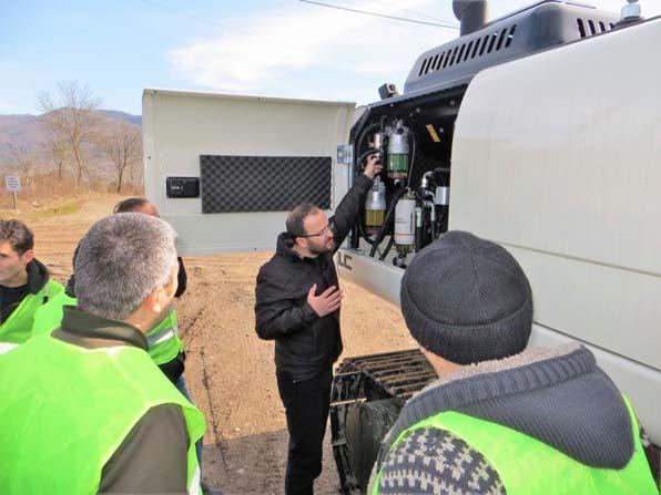 İş makinesi kullanan operatörlere eğitimi düzenlendi