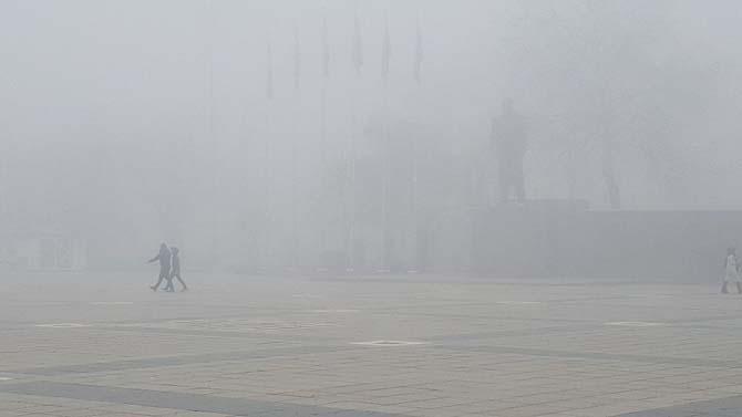 Düzce sis etkili oluyor