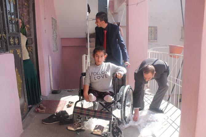 Silopili engelli kıza Rize'den yardım