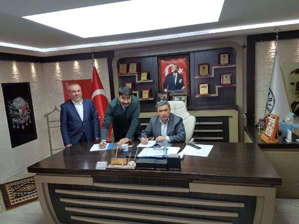 Sarız Belediyesi'nde imzalar atıldı