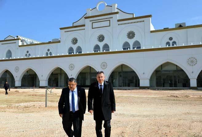 Vali Elban ve Başkan Yağcı'dan yeni otogarda incelemeler