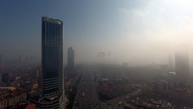Sis altında kalan İstanbul drone ile havadan görüntülendi
