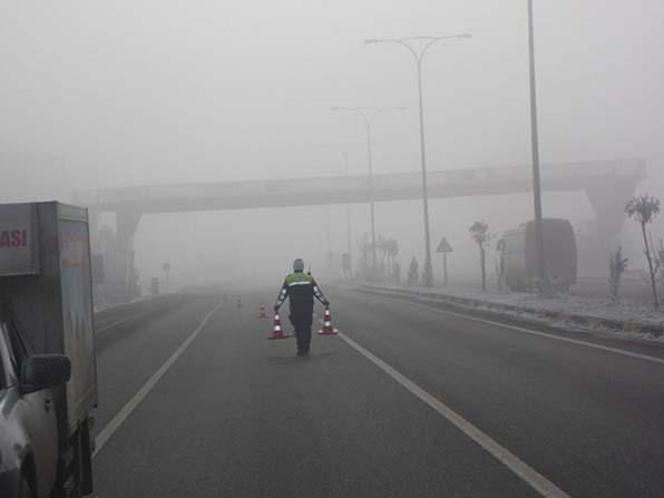 Kars'ta Asayiş ve hava ulaşımına sis engeli
