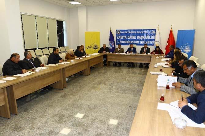 Van Büyükşehir Belediyesi Zabıta Dairesi Başkanlığı 2017 2. il istişare koordinasyon toplantısı yapıldı
