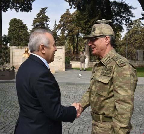 Korgenaral Yaşar, Vali Ata'yı ziyaret etti