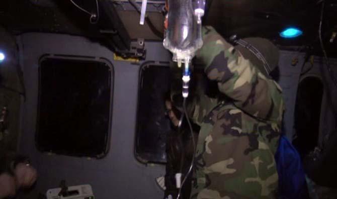 Askeri helikopter hayat kurtardı