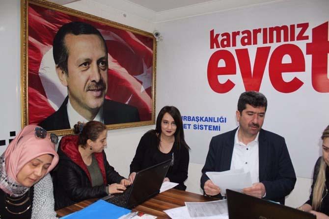Nazilli AK Parti 'Evet' için sahaya indi