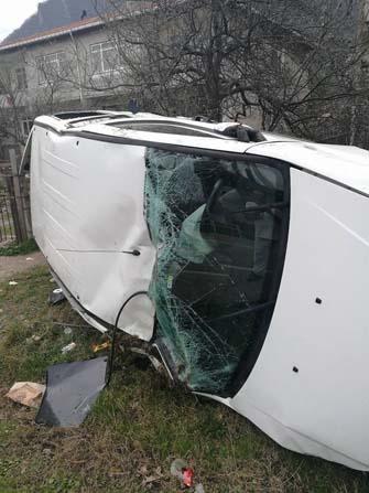 Cide'de trafik kazası: 1 yaralı