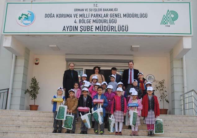 Aydın'da öğrenciler yaban hayatını öğrendi
