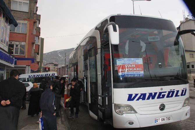Hakkari'ye 3 yıl aradan sonra otobüs sevinci