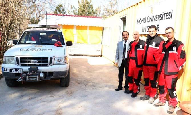 Malatya İnönü Üniversitesi arama kurtarma ekipleri olası afete hazır