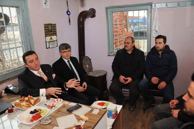 Başkan Bakıcı Yenidoğan Mahalle esnafı ile kahvaltıda buluştu