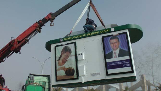 Akçakoca'ya ilk bebek emzirme kabini kuruldu