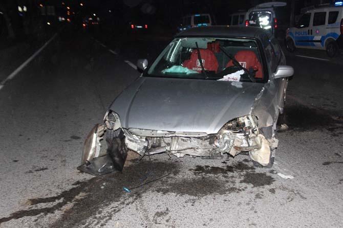 Alkollü sürücünün polisle trafik dansı hastanede bitti