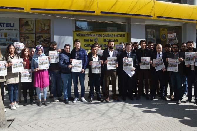 AK Gençler Kılıçdaroğlu'na 'Evet Gazetesi' gönderdi