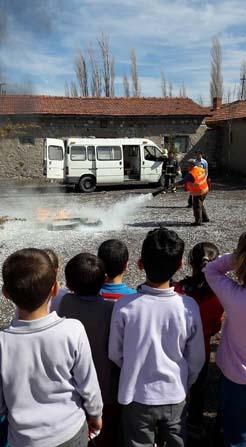 Kırka'da yangın eğitimi ve tatbikatı yapıldı