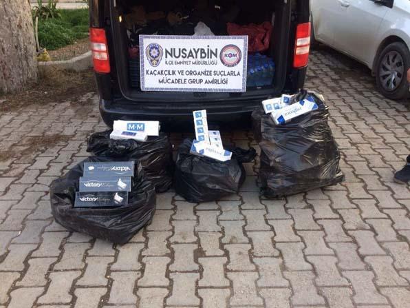 Nusaybin'de kaçak akaryakıt ve sigara ele geçirildi
