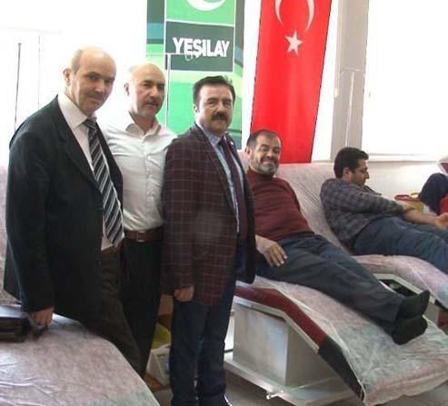 Yeşilay'dan kan bağışı kampanyasına destek