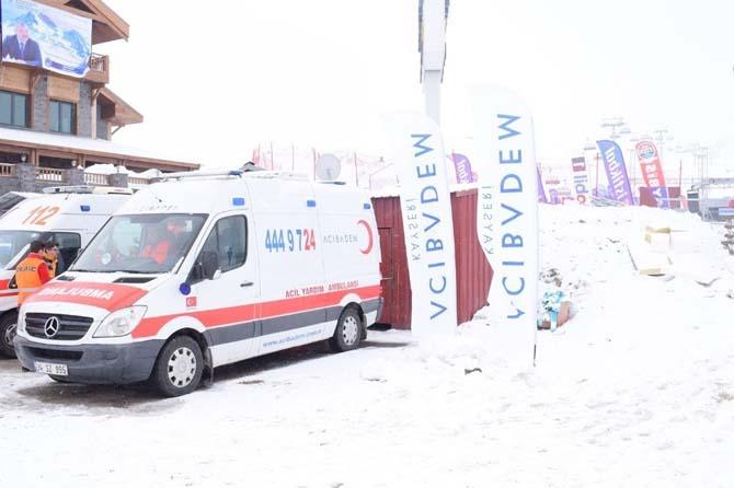 Acıbadem Kayseri Hastanesi'nden Snowboard Dünya Kupası'na Sağlık Desteği
