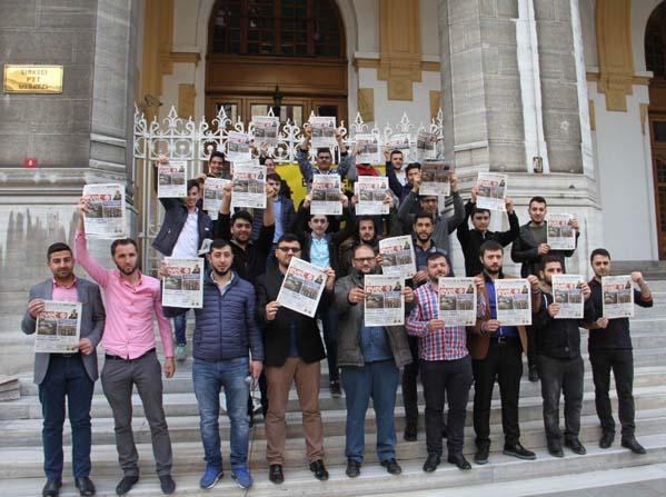 """AK Gençlik Kılıçdaroğlu'na """"Evet Gazetesi"""" gönderdi"""