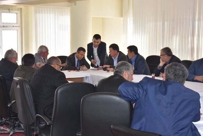 Eskil ilçesinde toplulaştırma toplantısı yapıldı