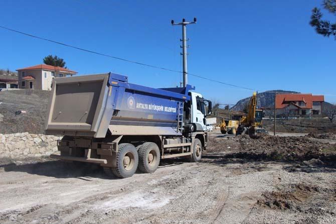 Kemer Ovacık yaylasında asfalt hazırlığı