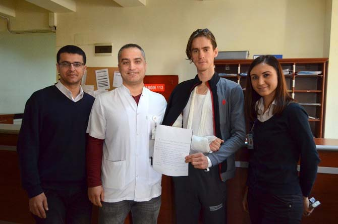Ukraynalı hastadan teşekkür mektubu