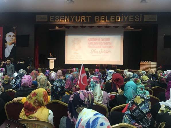 Esenyurt'ta kadınlara özel panel düzenlendi