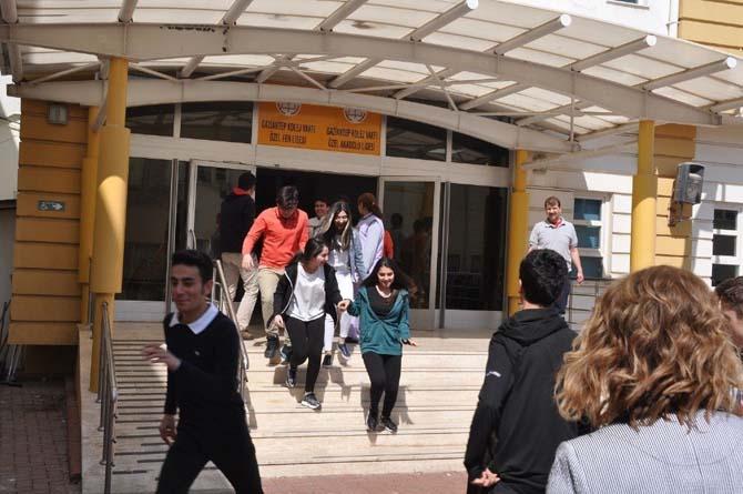 Gaziantep'te gerçeği aratmayan yangın tatbikatı