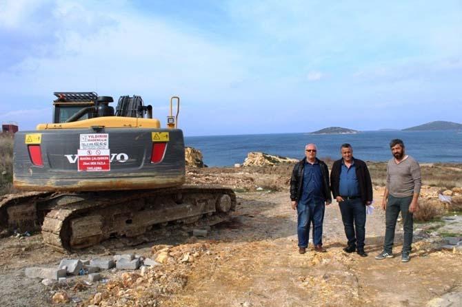 Ayvalık'ta denizcilerin inşaat heyecanı
