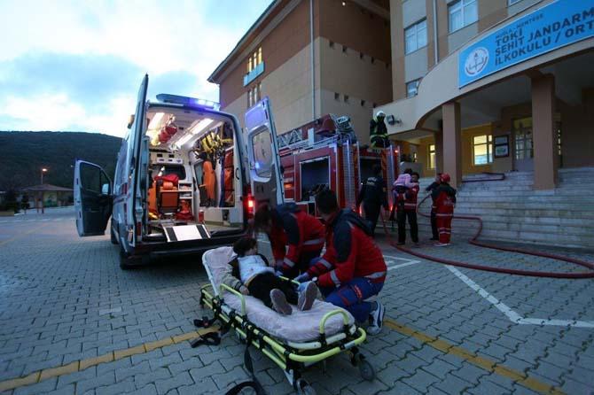 BİLSEM'de yangın ve kurtarma tatbikatı
