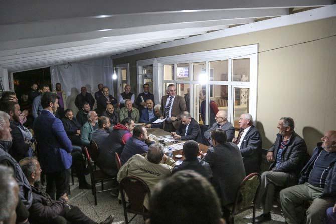 Başkan Yılmazer vatandaşlarla bir araya geldi