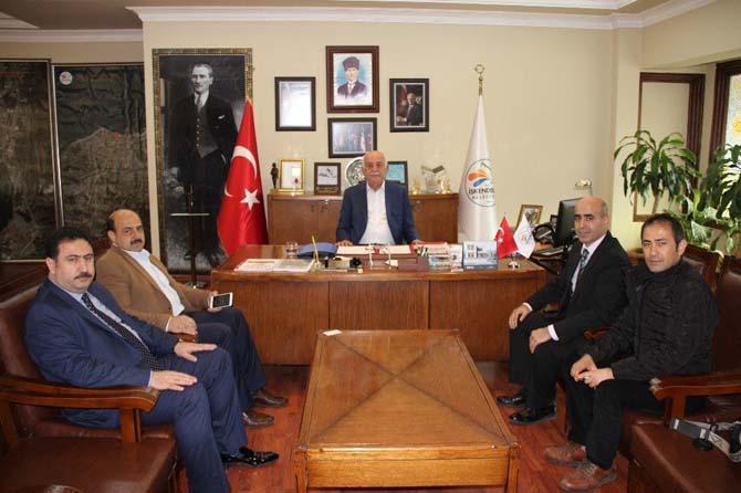 İHA'dan İskenderun Belediye Başkanı Seyfi Dingil'e ziyaret