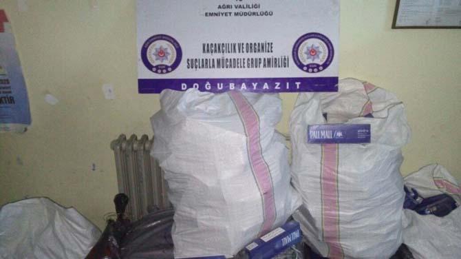 Ağrı'da 107 bin 920 paket kaçak sigara ele geçirildi