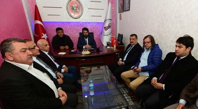 Belediye Başkanı Gürkan, Battalgazi Esnaf Odasını ziyaret etti