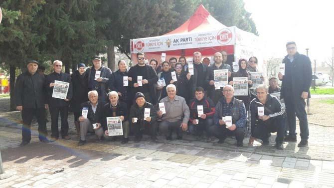 AK Parti Kepez Belde Teşkilatı'ndan 'evet' çadırı