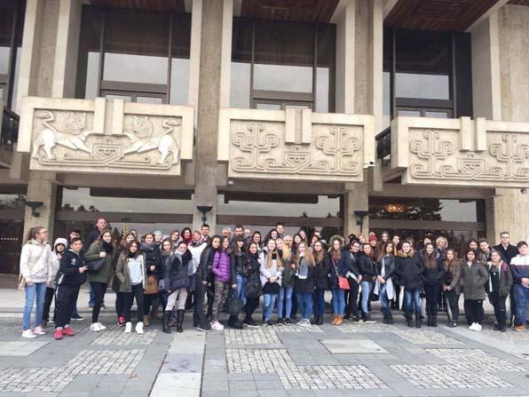 Bafra Atatürk Anadolu Lisesi öğrencileri Bulgaristan'da