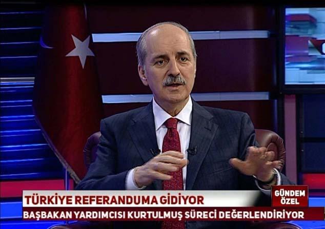 """Numan Kurtulmuş: """"Suriye'nin kuzeyinde bir PYD devleti oluşmasına karşıyız"""""""